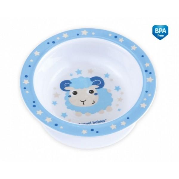 Melamina miseczka z przyssawką Canpol Babies 4/519 niebieski