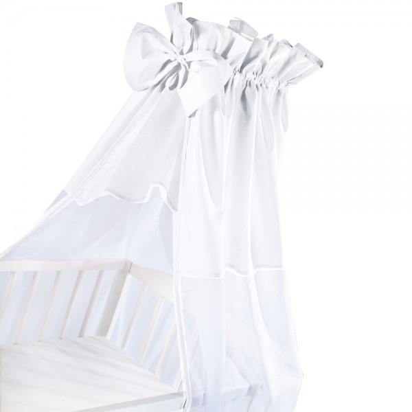 ALBERO MIO baldachim z kokardą 150x200cm biały