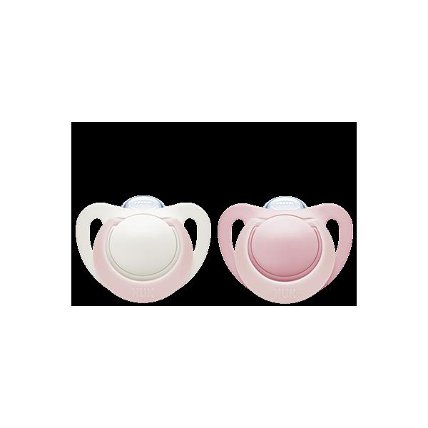 Silikonowy smoczek NUK Genius 0-2m(2szt.) różowe