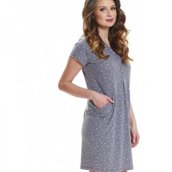 Koszula ciążowa DOBRANOCKA Dark Grey 9453