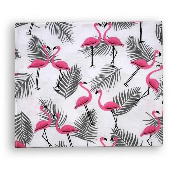 Pieluszka flanelowa 70x80cm - flamingi