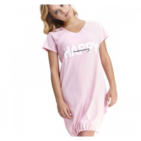 Koszula ciążowa DOBRANOCKA 9504 Sweet Pink