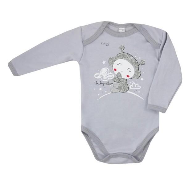 Body długi rękaw Koala Baby CLOUDS szare