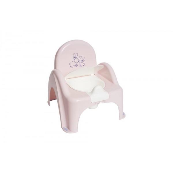 Nocnik krzesełko z pozytywką Tega króliczki róż