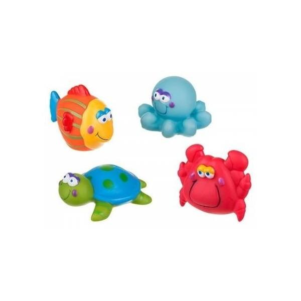 Zabawki do kąpieli 4szt. Akuku A0362