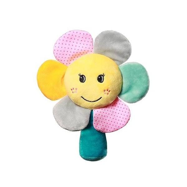 Grzechotka welurowa Rainbow Flower BabyOno 609