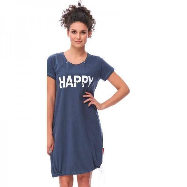 Koszula ciążowa DOBRANOCKA 9504 Deep Blue