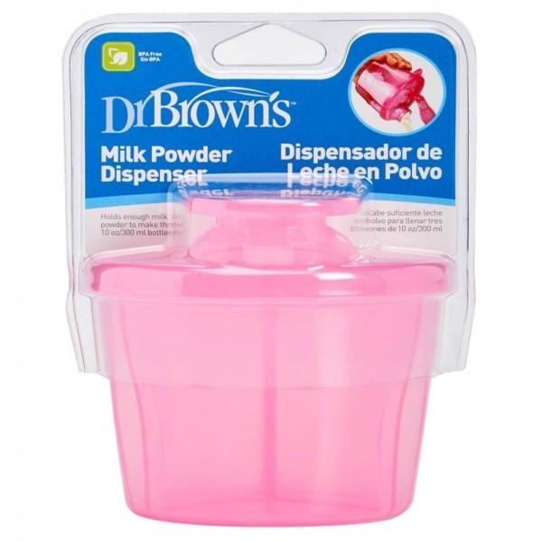 Pojemnik na mleko w proszku Dr Browns - różowy