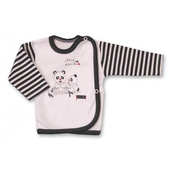 Koszulka kopertowa Lafel PANDA biało-czarna