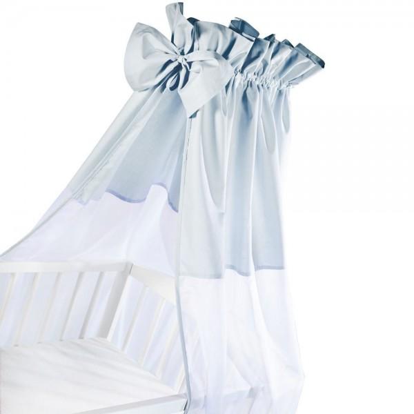 ALBERO MIO baldachim z kokardą 150x200cm niebieski