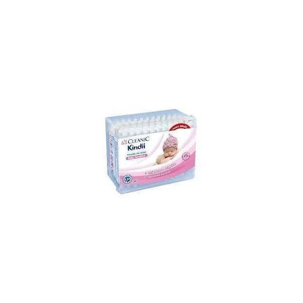 Patyczki higieniczne dla niemowląt Cleanic 60szt - z bezpieczną końcówką