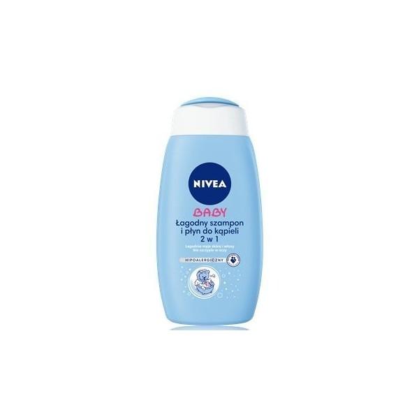 Łagodny szampon i płyn do kąpieli Nivea Baby (500ml)