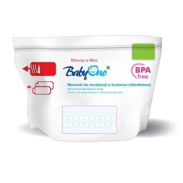 Woreczki do sterylizacji w kuchence mikrofalowej BabyOno - (5szt.)