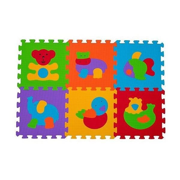 Puzzle piankowe BabyOno 6szt. - Zwierzęta