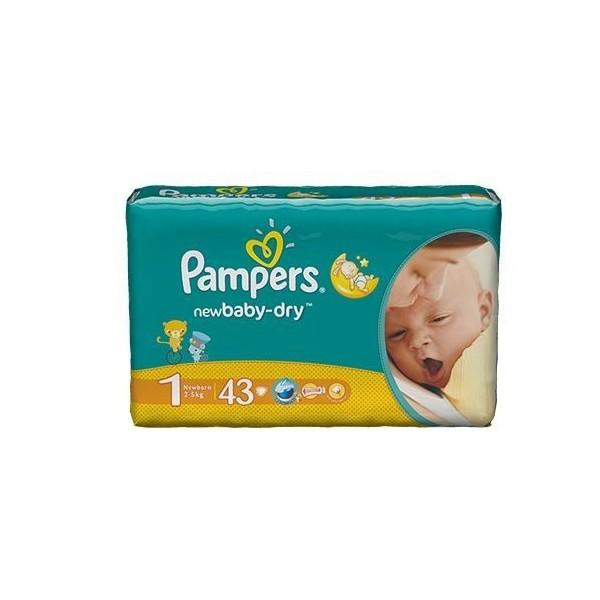 Pieluszki Pampers New Baby-Dry (1) 2-5kg - 43 szt.