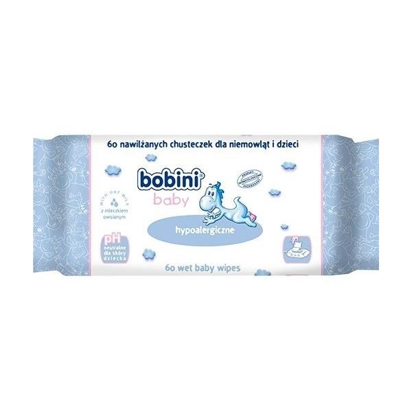 Chusteczki nawilżane Bobini Hipoalergiczne - 60szt