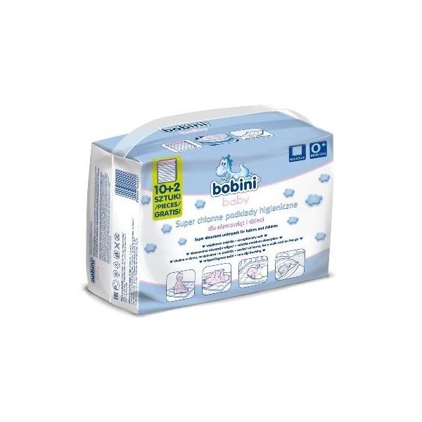 Podkłady higieniczne Bobini 12szt super chłonne