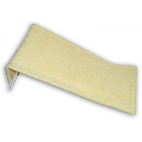 Leżaczek kąpielowy bawełniany Tega beżowy