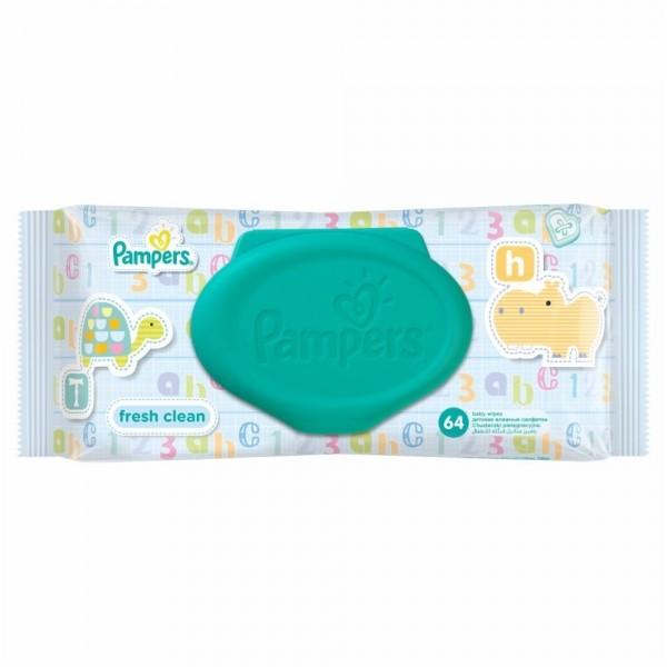Chusteczki Pampers Fresh Clean 64szt zamykane