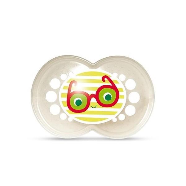 Smoczek MAM Pearl 6m+ biały z okularami