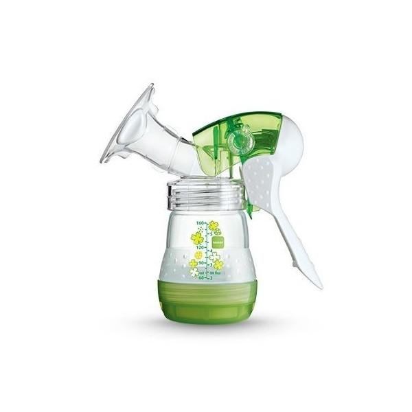 Laktator ręczny MAM + butelka gratis (zielony)