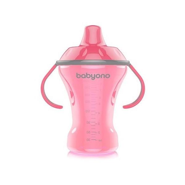 Kubek niekapek Babyono 260 ml NATURAL Nursing różowy