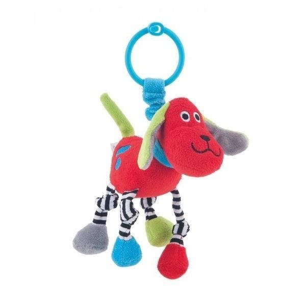 Pluszowa zabawka z grzechotką Canpol 68/051 czerwona