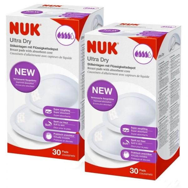 Wkładki laktacyjne Ultra Dry 30+30szt. NUK 252123G