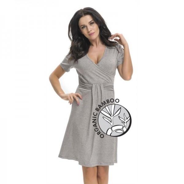 Koszula ciążowa DOBRANOCKA Dark Grey 9116